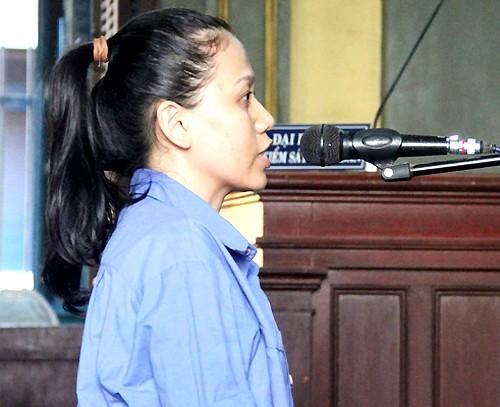 Bị cáo Trang tại tòa.