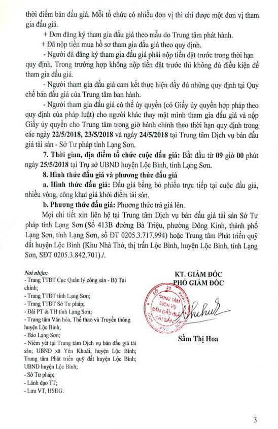 Đấu giá quyền sử dụng đất tại huyện Lộc Bình, Lạng Sơn - ảnh 3