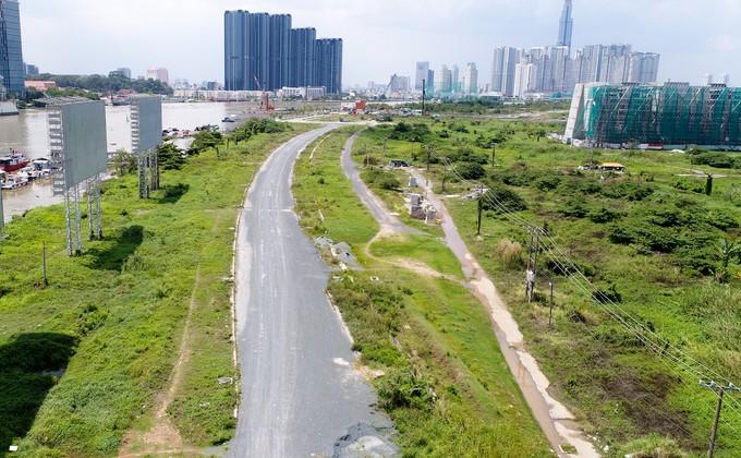 Hiện trạng bốn tuyến đường giá 12.000 tỷ đồng ở Thủ Thiêm - ảnh 5