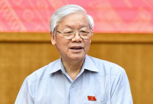 Tổng bí thư Nguyễn Phú Trọng tại cuộc tiếp xúc cử tri sáng 13/5