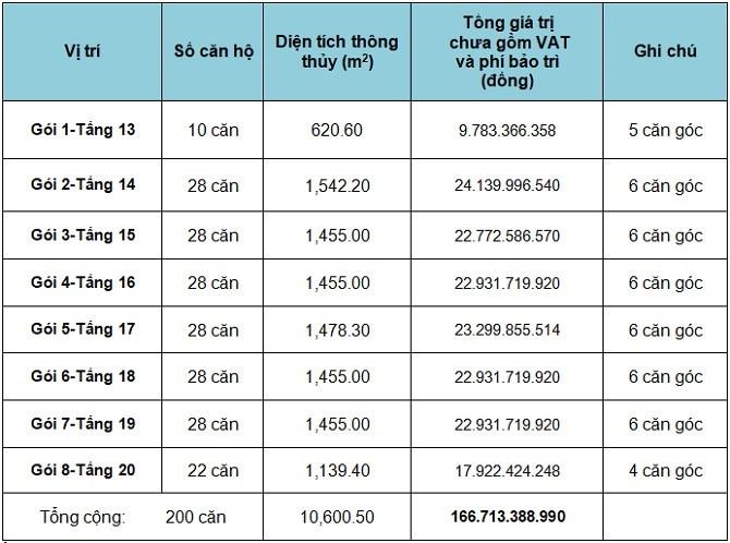 TP.HCM: Đấu giá 200 căn hộ tại Quận 7, giá từ hơn 800 triệu đồng/căn - ảnh 1