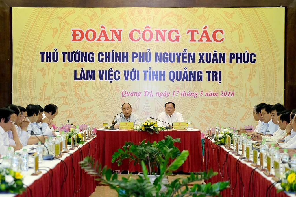 Thủ tướng Nguyễn Xuân Phúc làm việc với tỉnh Quảng Trị - ảnh 1