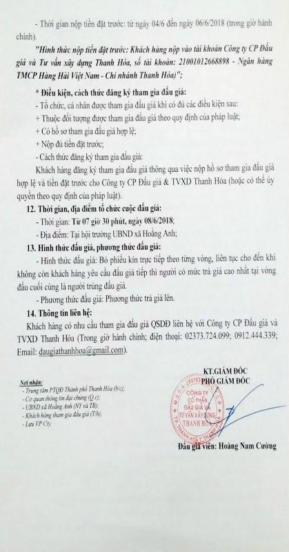 Đấu giá quyền sử dụng đất tại TP.Thanh Hóa, Thanh Hóa - ảnh 2