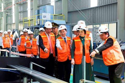 Nhà máy VLXD Hoa Sen Yên Bái có công suất giai đoạn 1 là 60.000 tấn/năm. Ảnh Internet