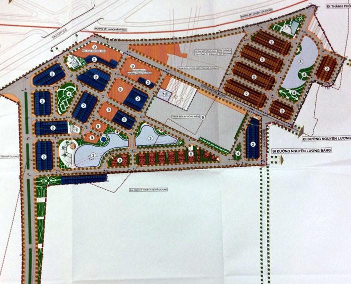 Bản đồ quy hoạch chi tiết khu đô thị mới Việt Hòa - Thanh Bình. Ảnh Internet