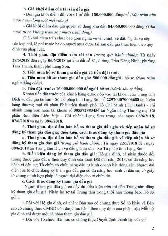 Đấu giá quyền sử dụng đất tại thành phố Lạng Sơn, Lạng Sơn - ảnh 2