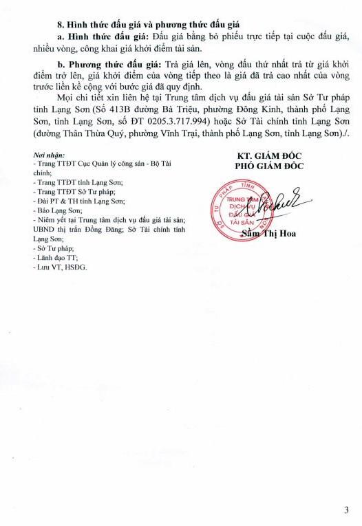 Đấu giá quyền sử dụng đất và TSKGLVĐ tại huyện Cao Lộc, Lạng Sơn - ảnh 3