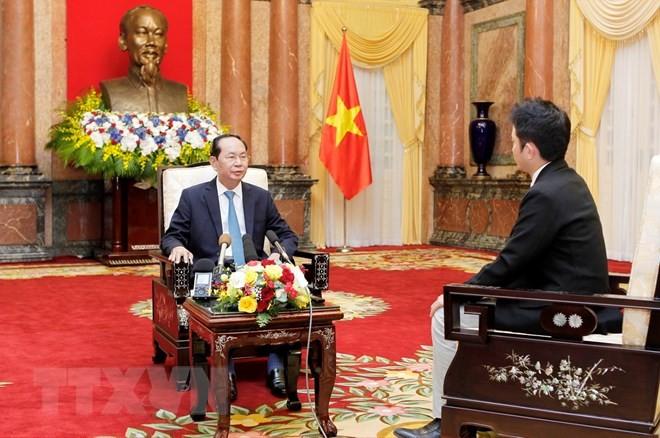 Chủ tịch nước trả lời phỏng vấn báo chí trước chuyến thăm Nhật Bản - ảnh 1