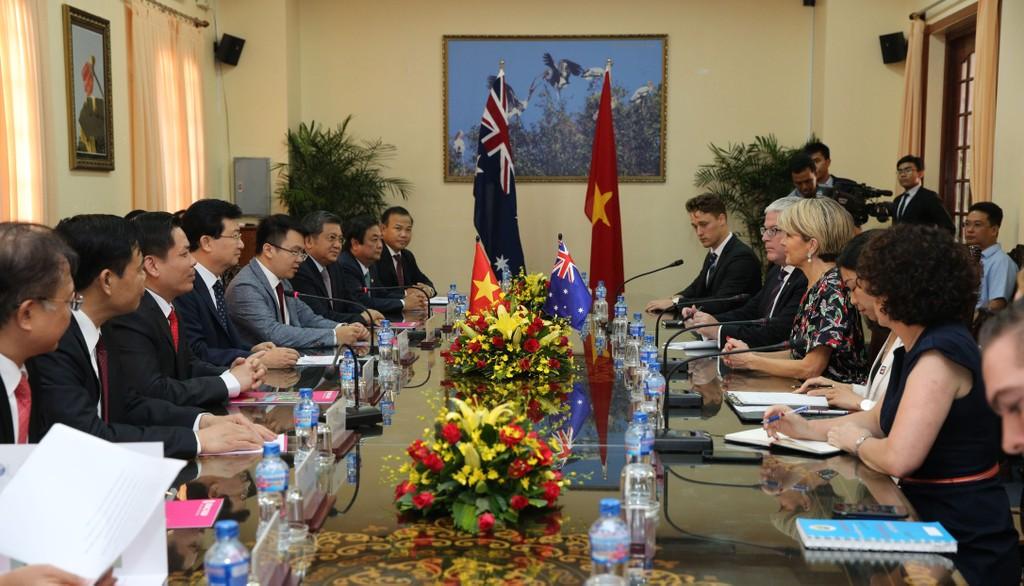 Phó Thủ tướng Trịnh Đình Dũng tiếp Bộ trưởng Ngoại giao Australia - ảnh 1