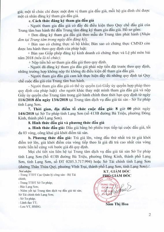 Đấu giá xe ô tô thanh lý tại Lạng Sơn - ảnh 2