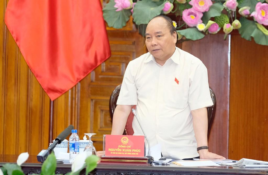 Thủ tướng Nguyễn Xuân Phúc nhất trí việc phát triển Khu kinh tế Dung Quất thành Trung tâm Lọc hóa dầu và năng lượng quốc gia. Ảnh: VGP