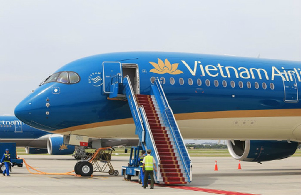 Máy bay Airbus A350-900 của Vietnam Airlines.