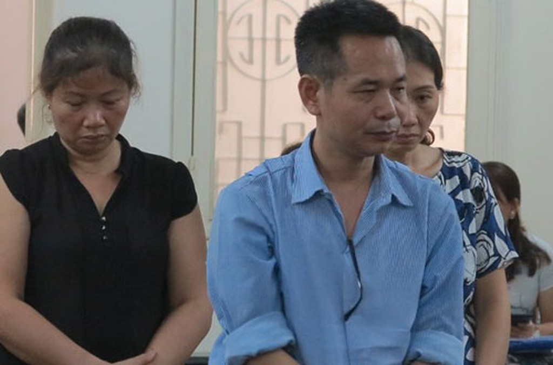 Bị cáo Dương và đồng phạm tại tòa sơ thẩm.