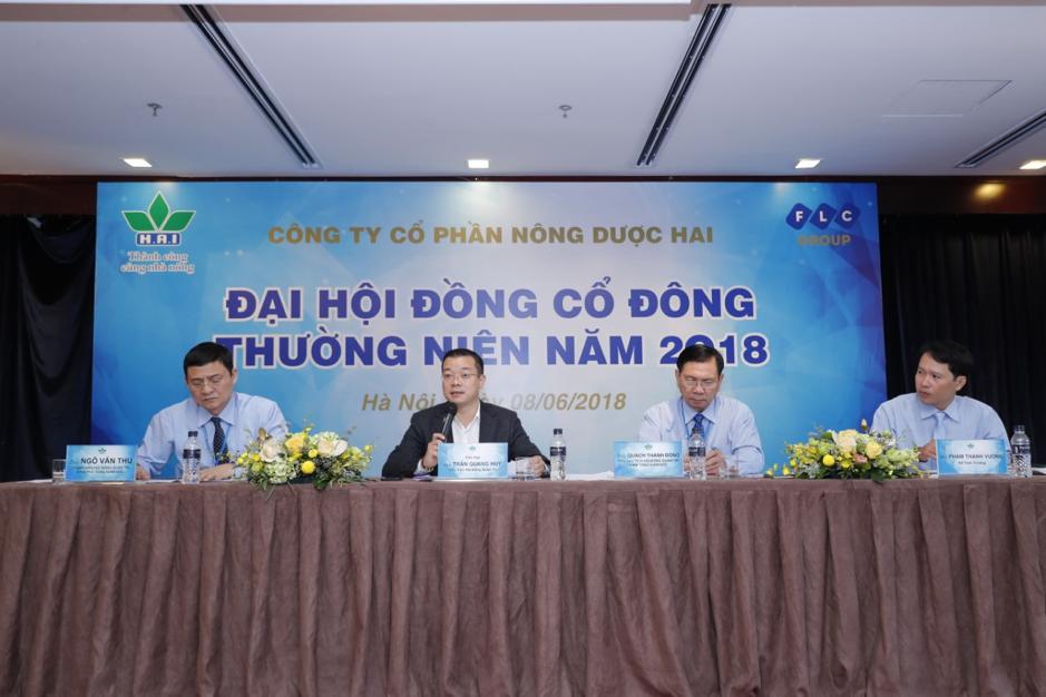Ban chủ toạ Đại hội cổ đông thường niên HAI năm 2018