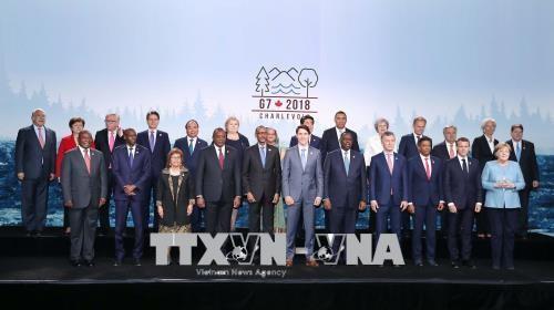 Các nhà lãnh đạo dự Hội nghị Thượng đỉnh G7 mở rộng