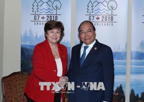Thủ tướng tiếp xúc song phương các nhà lãnh đạo dự Hội nghị G7 mở rộng - ảnh 4