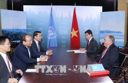 Thủ tướng tiếp xúc song phương các nhà lãnh đạo dự Hội nghị G7 mở rộng - ảnh 5