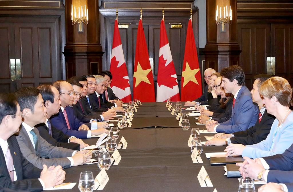 Thủ tướng Nguyễn Xuân Phúc hội đàm với Thủ tướng Canada - ảnh 1