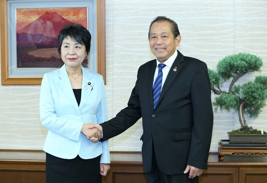 Phó Thủ tướng Trương Hòa Bình hội kiến Chủ tịch Thượng viện Nhật Bản - ảnh 2