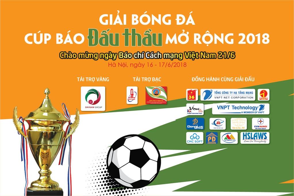 Bốc thăm, chia bảng Giải bóng đá Cúp Báo Đấu thầu mở rộng năm 2018 - ảnh 1