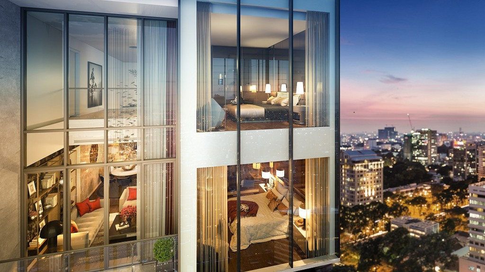 Penthouse Duplex Ancora Residence với hệ thống kính cường lực, trong suốt để gia chủ chiêm ngưỡng tầm nhìn không đối thủ.