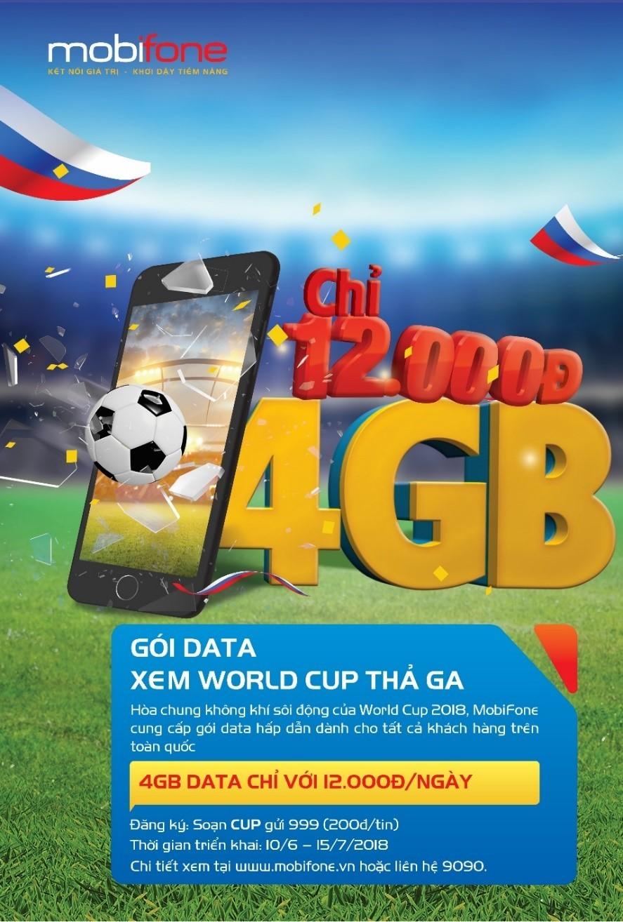 MobiFone tung gói cước hấp dẫn mùa World Cup - ảnh 1