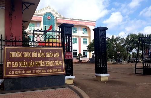 Trụ sở UBND huyện Krông Năng, nơi ông Sáu từng công tác.
