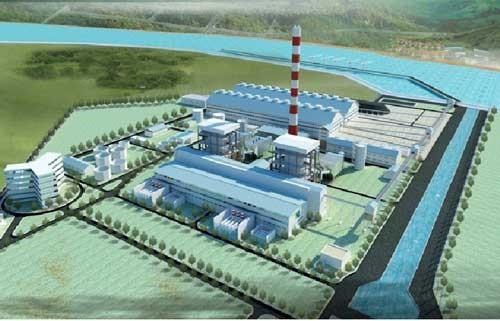 Phối cảnh nhà máy nhiệt điện Quỳnh Lập 1. Ảnh Internet