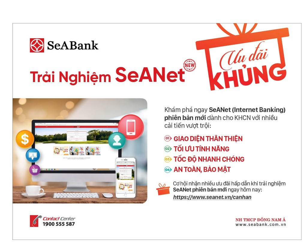 SeABank giới thiệu phiên bản Internet Banking hoàn toàn mới