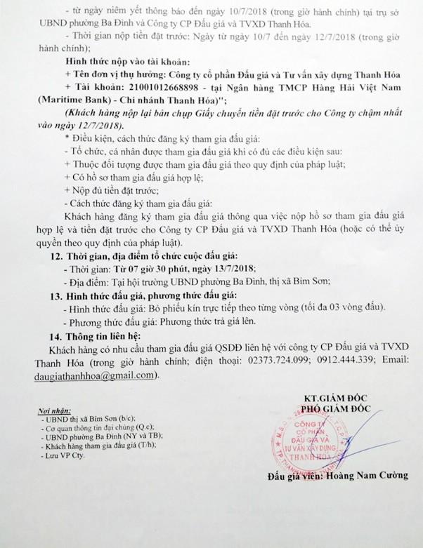 Đấu giá quyền sử dụng đất tại thị xã Bỉm Sơn, Thanh Hóa - ảnh 2