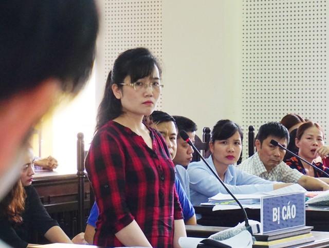 Bị cáo Nguyễn Thị Lam tại phiên tòa sơ thẩm xét xử ngày 27/6