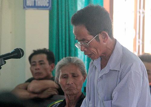 Ông Lê Hữu Chí tại tòa.