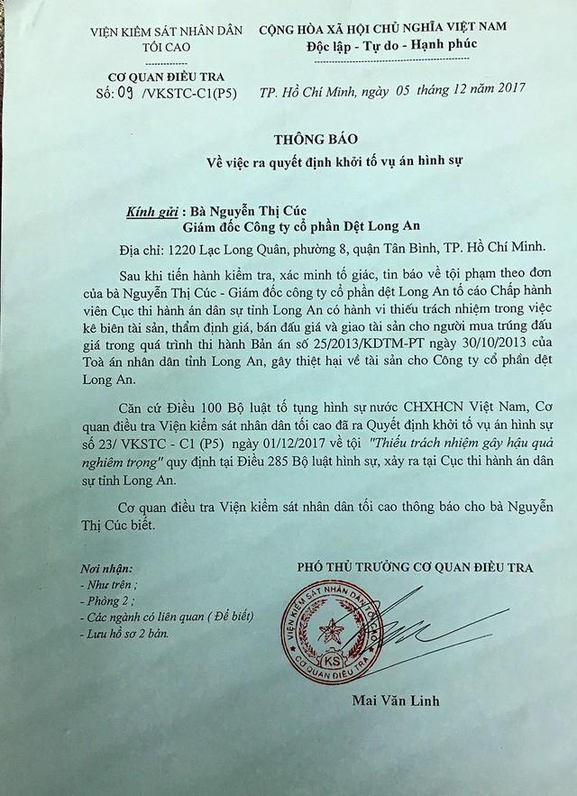 Thi hành án tại Cty Dệt Long An: Tài sản không kê biên cũng bị đem bán đấu giá! - ảnh 2
