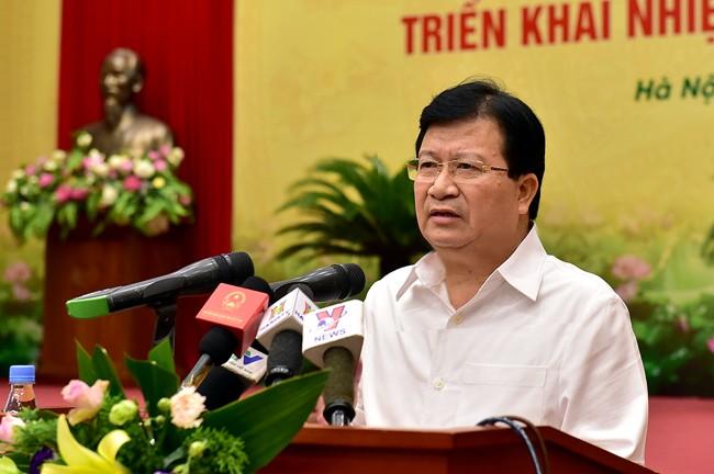 Phó Thủ tướng Chính phủ Trịnh Đình Dũng, Trưởng Ban Chỉ đạo liên ngành về tái cơ cấu ngành nông nghiệp theo hướng nâng cao giá trị gia tăng và phát triển bền vững giai đoạn 2015 - 2020 - Ảnh VGP
