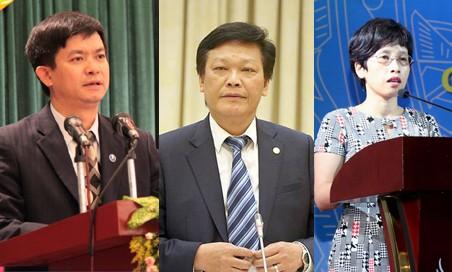 Từ trái qua: Ông Lê Quang Tùng, ông Nguyễn Duy Thăng và bà Nguyễn Thị Phú Hà.