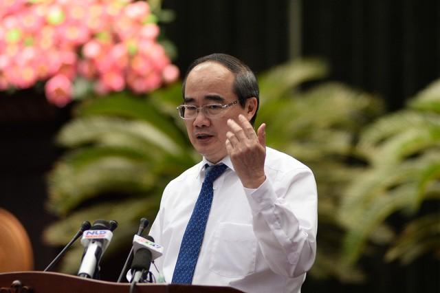 Bí thư Thành ủy Nguyễn Thiện Nhân phát biểu bế mạc chiều 6-7 - Ảnh: tuổi trẻ