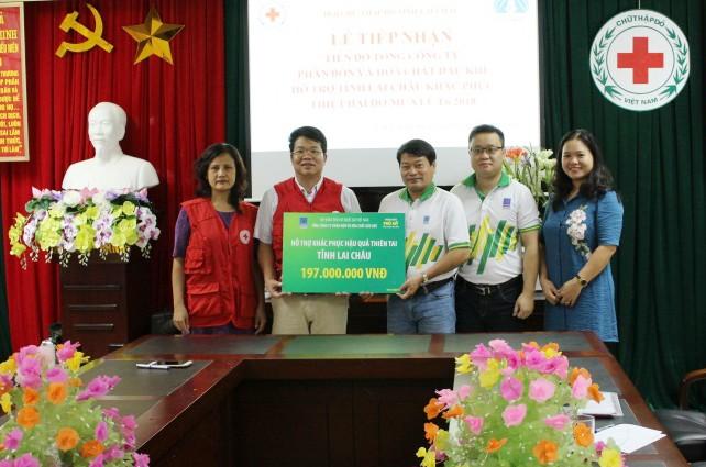 Người lao động PVFCCo chia sẻ cùng gia đình các nạn nhân chịu thiệt hại do thiên tai tại Lai Châu - ảnh 1