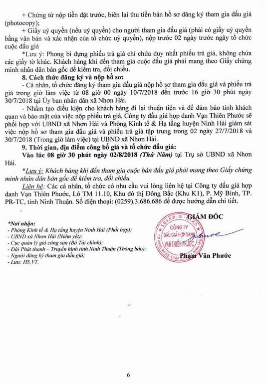Đấu giá quyền sử dụng đất tại huyện Ninh Hải, Ninh Thuận - ảnh 6