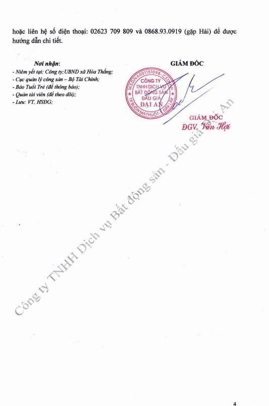 Đấu giá các tài sản gắn liền trên đất của Công ty Cổ phần TMDV Vinacafe Đắk Lắk - ảnh 4