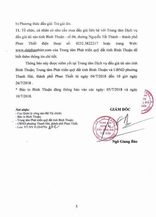 Đấu giá quyền sử dụng đất tại thành phố Phan Thiết, Bình Thuận - ảnh 3