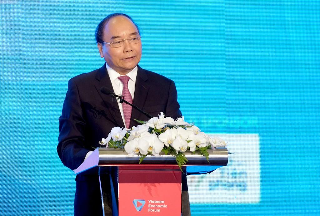 Thủ tướng phát biểu tại Diễn đàn cấp cao Công nghệ thông tin-truyền thông Việt Nam. Ảnh: VGP