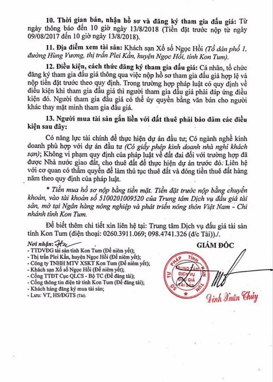 Đấu giá quyền sử dụng đất và TSTĐ tại thành phố Kon Tum, Kon Tum - ảnh 2