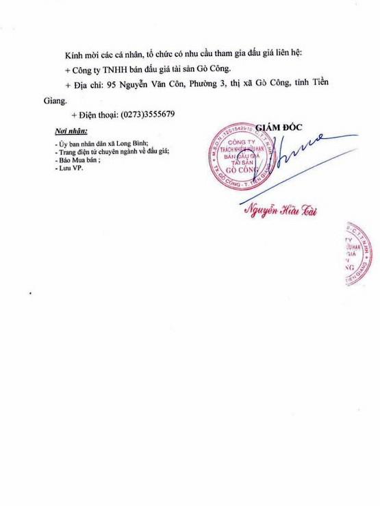 Đấu giá quyền sử dụng đất tại huyện Gò Công, Tiền Giang - ảnh 3