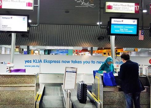 Quầy làm thủ tục của hãng hàng không đặt tại nhà ga trung tâm Kuala Lumpur. Ảnh minh họa: KL.