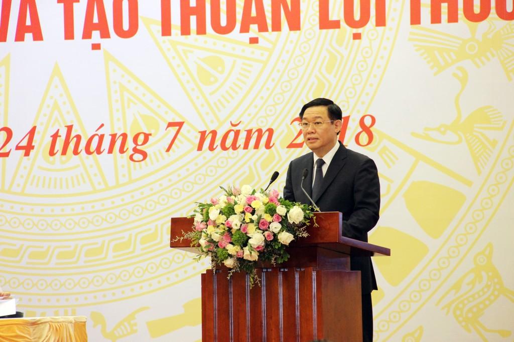 Phó Thủ tưởng Vương Đình Huệ phát biểu khai mạc Hội nghị