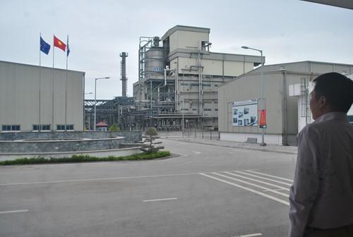 Dự án Nhà máy Sản xuất xơ sợi Polyester Đình Vũ đã hoạt động trở lại. Ảnh Internet