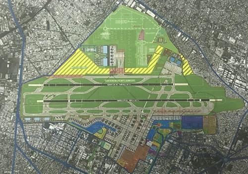 Phương án mở rộng sân bay Tân Sơn Nhất về phía nam và bắc của Tư vấn Pháp. Ảnh Internet