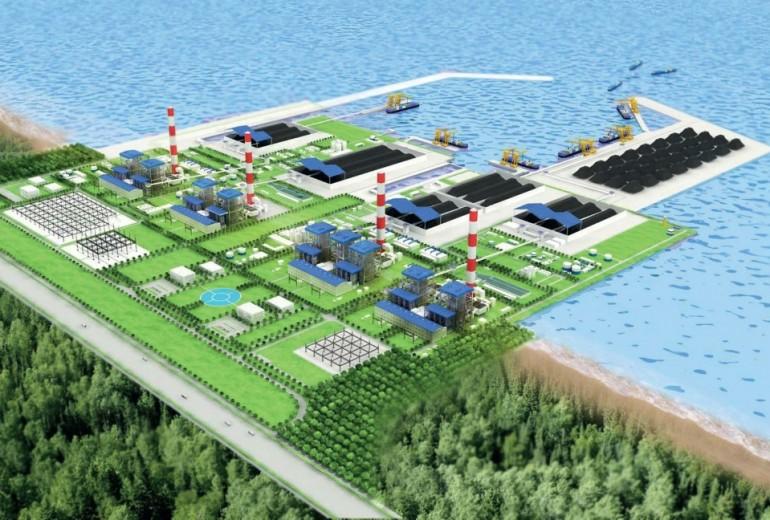 Phôi cảnh Nhà Máy nhiệt điện Vĩnh Tân 1. Ảnh Internet