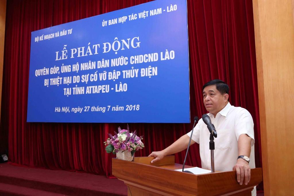 Bộ trưởng Bộ KH&ĐT Nguyễn Chí Dũng phát biểu tại lễ phát động. Ảnh: Đức Trung