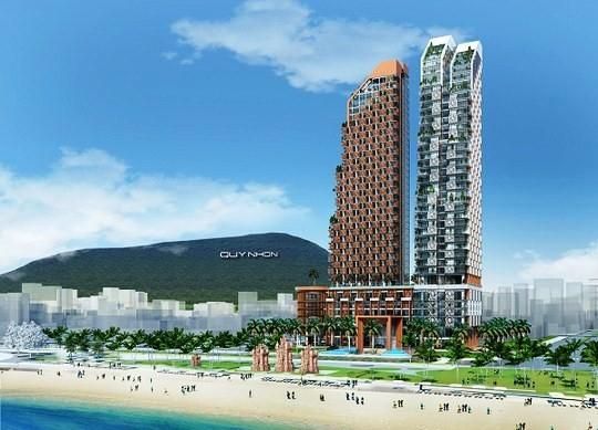Phối cảnh dự Khu phức hợp Khách sạn, Thương mại và Căn hộ cao cấp Thiên Hưng có mức đầu tư hơn 2.900 tỷ đồng